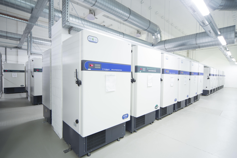 Biorepository freezers