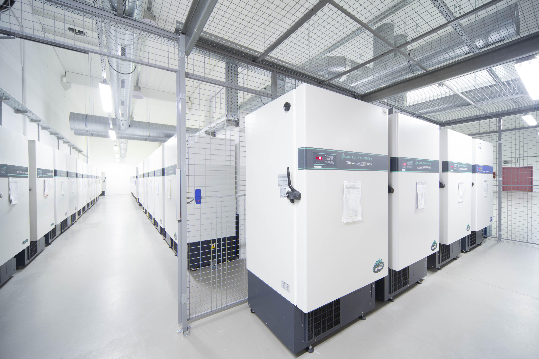 freezers in a biorepository